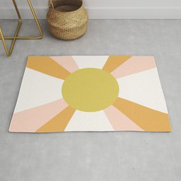 Retro Sun Rays - Morning Light Rug