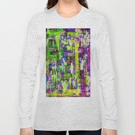 BOYFRIEND SWEATS(violet & lime) Long Sleeve T-shirt