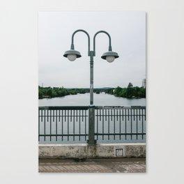 On the bridge Canvas Print