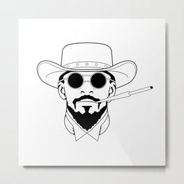 Django Metal Print