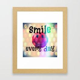 smile every day Framed Art Print