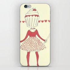 Cupcake girl iPhone Skin