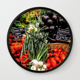 Fresh produce Wall Clock