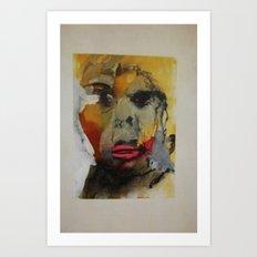 young boys face Art Print