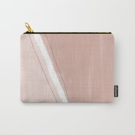 Blush Pink and Terra-Cotta Abstract Carry-All Pouch