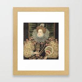 George Gower - Portrait of Elizabeth I of England Framed Art Print