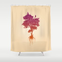 Splatter Tree Shower Curtain