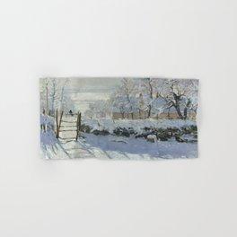 Monet, The Magpie (La Pie) (Die Elster) 1868-1869 Hand & Bath Towel