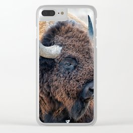 In The Presence Of Bison Clear iPhone Case