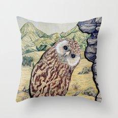 Laughing Owl  Throw Pillow