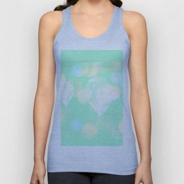 Skeleton leaves and polka dots (pastels) Unisex Tank Top
