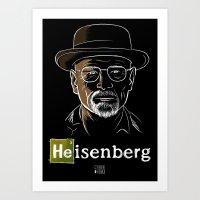 heisenberg Art Prints featuring Heisenberg by Caroline Fogaça