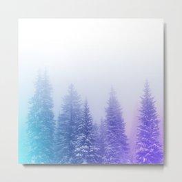 Blue and Purple Pines Metal Print