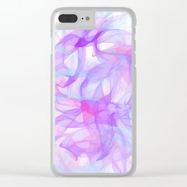 Soft Veils Of Color Abstract Clear iPhone Case
