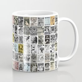 1980's Vintage Punk Flyers Coffee Mug