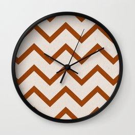 Recycled Orange Chevron Wall Clock