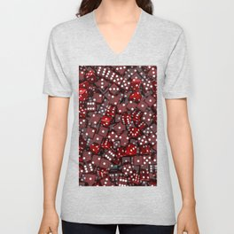 Red dice Unisex V-Neck