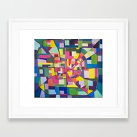 houston Framed Art Prints featuring Houston by EmilyWhittemore