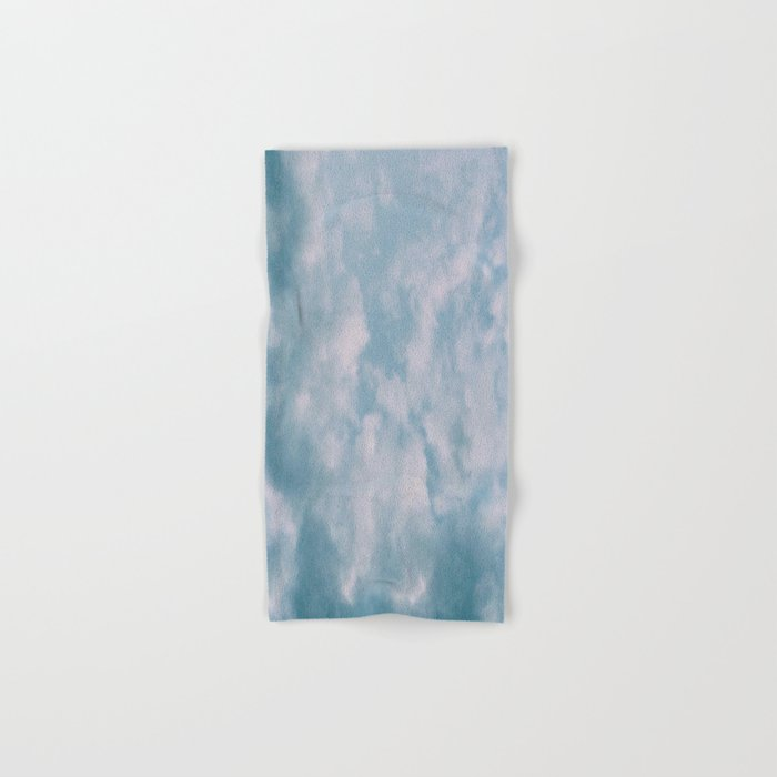 Fluffy Blue Clouds Hand & Bath Towel