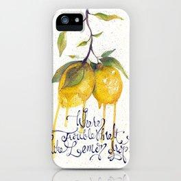 Where Troubles Melt Like Lemon Drops iPhone Case