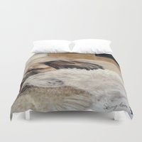 best friends Duvet Covers featuring Best Friends by Sean Wolf