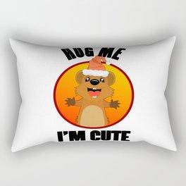 Quokka Australia Kangaroo Marsupial Hug Me Christmas Rectangular Pillow