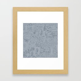 DC NYC London - Powder Blue Framed Art Print