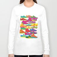 sneakers Long Sleeve T-shirts featuring Sneakers by Glen Gould