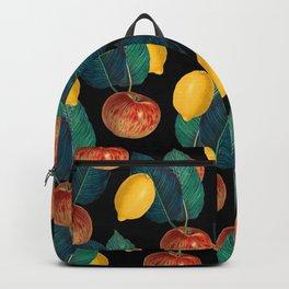 Apples And Lemons Black Backpack
