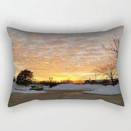 Winter Sunset, Chicago, 2018 Rectangular Pillow