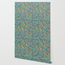 Psychedelic funky Seventies disco party Wallpaper