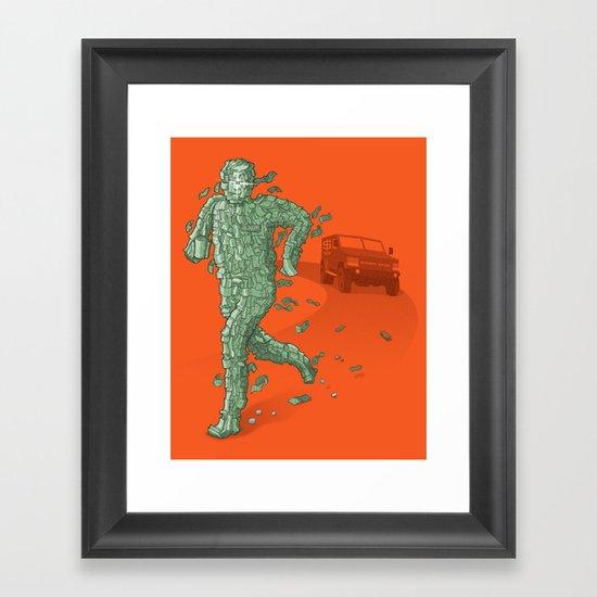 The Six Million Dollar Man Framed Art Print