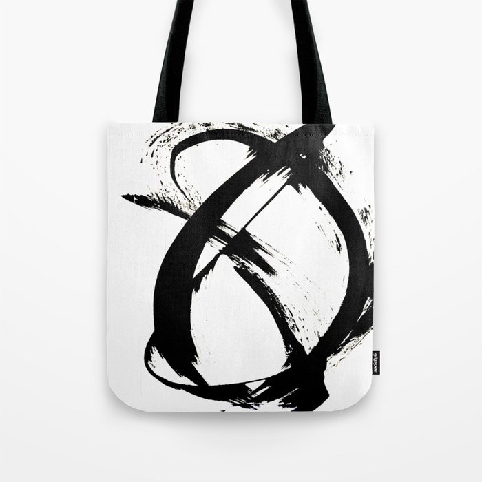 Brushstroke [7]: a minimal, abstract piece in black and white Tote Bag