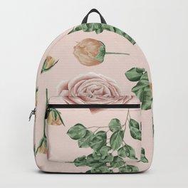 Flower Shop Roses on Blush Pink Backpack