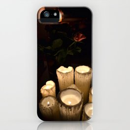 melting candles iPhone Case