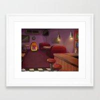 bar Framed Art Prints featuring Bar by Alyssa Leandra Dalangin