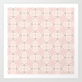 Romantic tracery in pink Art Print