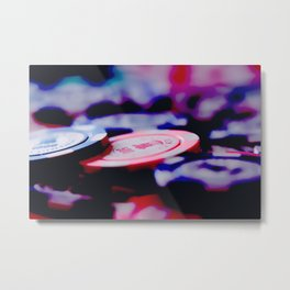 Casino Chips Metal Print