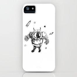 Funny Galaxy Space Black Astronaut Cosmonaut Spaceman iPhone Case