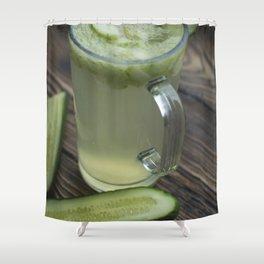 Homemade cucumber lemonade Shower Curtain