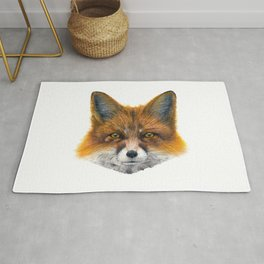 Fox face - Painting in acrylic Rug