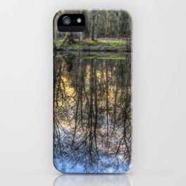 A Pond Of Refections iPhone Case