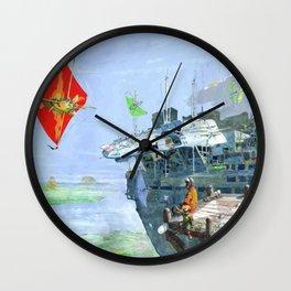 Sky Yacht Race Wall Clock