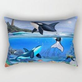THE ORCA FAMILY Rectangular Pillow