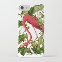 flamingo iPhone & iPod Cases featuring Flamingo by Fifikoussout