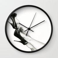 legs Wall Clocks featuring Legs by Irene's Goodies