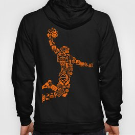 Basketball Art Dunk Hoody