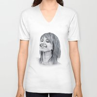 hayley williams V-neck T-shirts featuring Hayley Williams Portrait. by Dioptri Art