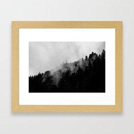 Eagle Creek Fog Framed Art Print
