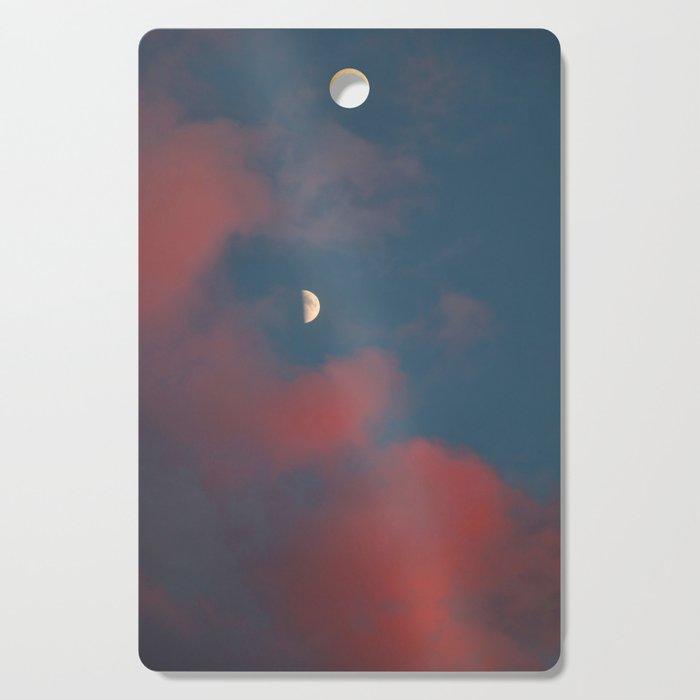 Cloud Bleeding Mars for Moon Cutting Board